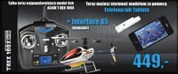 Helikopter zdalnie sterowany RC T-REX 100 X SUPER COMBO + Interface A5 (telefon, tablet)